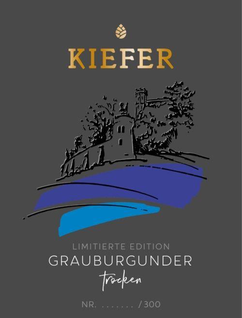 Weingut-Kiefer-Ortenberg-Wein-Erlesen-kaufen-Wein-Jahrgang- 2018 - Grauburgunder - Spätlese-trocken-Etikett