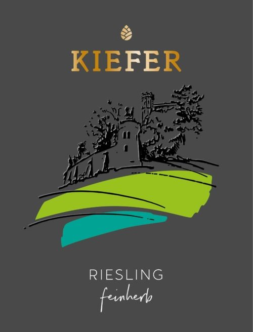 2020-09-06-Weingut-Kiefer-Ortenberg-Wein-Erlesen-kaufen-Wein-Jahrgang- 2018 - Riesling Kabinett - feinherb - Etikett