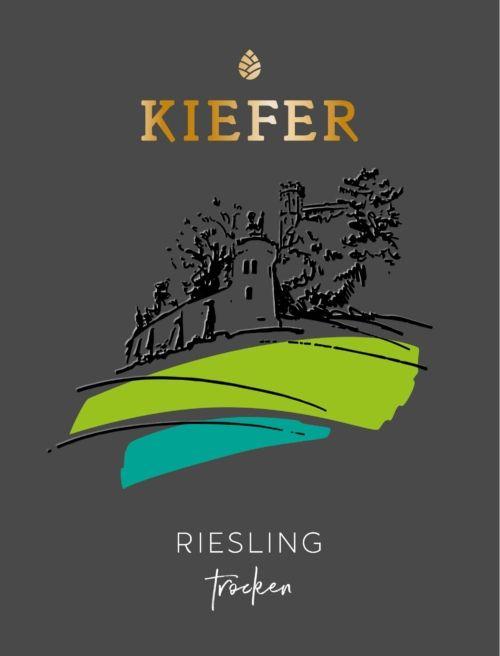2020-09-06-Weingut-Kiefer-Ortenberg-Wein-Erlesen-kaufen-Wein-Jahrgang- 2018 - Riesling - Spätlese - trocken - Etikett