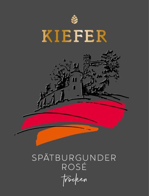 2020-09-06-Weingut-Kiefer-Ortenberg-Wein-Erlesen-kaufen-Wein-Jahrgang- 2018 - Spätburgunder Rose Kabinett - trocken - Etikett