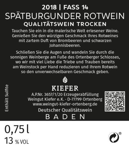 Weingut-Kiefer-Ortenberg-Wein-Rotwein-2018-Spätburgunder-trocken-Fass-14-Etikett-Rückseite
